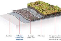 Green Roof Systems / Being totally seamless, lightweight, durable and fully root resistant, there is no better base for a green roof design.