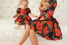 Mother daughters outfits