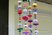 decoracion con tapas para colgar