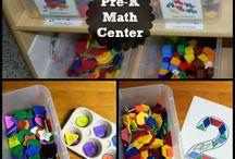 k. math centers / by Marissa