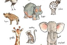 Baby art - Watercolour Animals