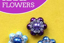 How to make bead flowers