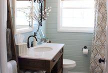 1/2 bath ideas / by Heather Spain