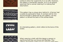 African mud cloth symbols