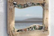 Drift mirror frame / Sea gems n rope