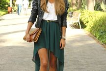 How to wear high low skirt