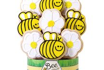 Spring Themed Decorated Cookie Bouquets/Gifts / Think Spring! The perfect gift to surprise someone special, friends and family will love these delicious shortbread cookies.   More Spring-themed Cookie Gifts here:  https://www.corsoscookies.com/all-holidays-seasons/spring.html