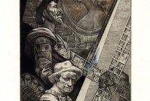 Exlibris / Bookplates - Don Quixote
