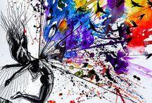 Ballerina paintings / Ballerina paintings by Vivien Szaniszlo. Ballerina, ballet watercolor paintings and oil paintings.