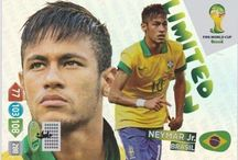 Neymar Trading Cards / All about different trading cards of Neymar over the years playing for both his club teams and Brazil.