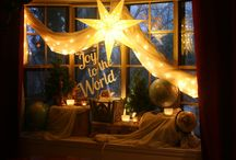 Nativity window display