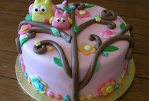 Owls cake