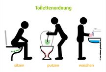 Saubere Toilette