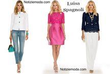Luisa Spagnoli / Luisa Spagnoli collezione e catalogo primavera estate e autunno inverno abiti abbigliamento accessori scarpe borse sfilata donna.