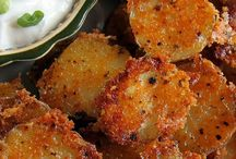 Potatoes.   Easy crispy parm garlic