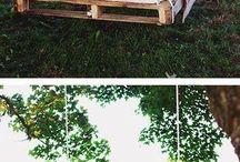 Качели-кровать из паллет