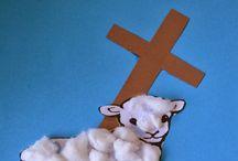 Kleuters Pasen christelijk.
