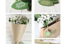 flowers in paper