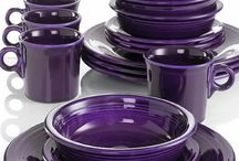 Dining Room Ideas / Ideas to set the table using my purple Fiestaware.