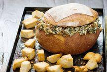 cob bread dip