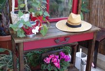 Vintage Planter Station
