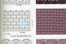 Gráficos e pontos em crochet*♡