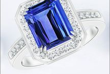 Double-Prong-Emerald-Cut-Tanzanite-Halo-Ring