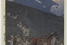 Masterpieces of Hiroshi Yoshida. / Hiroshi Yoshida (1876-1950) was a 20th-century Japanese painter and woodblock print maker. He is regarded as one of the greatest artists of the shin-hanga style, and is noted especially for his landscape prints. He travelled widely, and was particularly known for his images of non-Japanese subjects done in traditional Japanese woodblock style, including the Taj Mahal, the Swiss Alps, the Grand Canyon, and other National Parks in the USA.