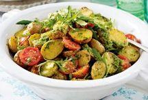 Salate / Backartoffelsalat mit Ruccola Pesto