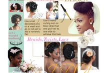 Wedding Natural Hair / it's your big day! and your hair is super important! check out this board for wedding day natural hair inspiration and tutorials you can use to look our absolute best!