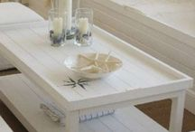 tafel met strepen zeekamer