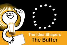 The Idea Shapers: The Buffer / In her 2016 book The Idea Shapers, Brandy Agerbeck makes visual thinking attainable and enjoyable through a set of 24 Idea Shapers. The Buffer is the fifth visual thinking concept in the second step, SORT + GROUP.