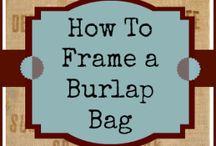 coffee sack frame wall