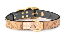 The Gray Collection + Inspiration / We won't guarantee that our smokey gray collars will turn your dog into the most popular pup at the dog park, but we do guarantee that you and your dog will love this collar and its gorgeous, one-of-a-kind coloring. Featuring the leather from reclaimed cowboy boots, brass plated hardware, laser etched details, hand painted edges, and custom stitching. Each dog collar comes with a genuine, brass plated Boots & Arrow tag.