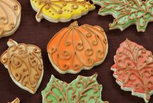 Fall and Thanksgiving Cake and Cookie Decorating ideas