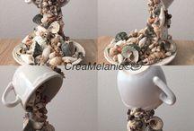 Deniz kabuklu fincan