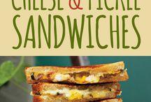 Sandwiches, hamburger....