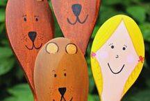 Prep: Wooden Spoon Art for classroom activities