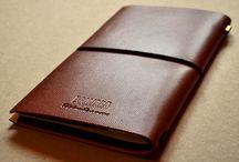 Записник / notebook / Натуральна шкіра, кремовий папір, кишені / Genuine leather, cream paper, pockets