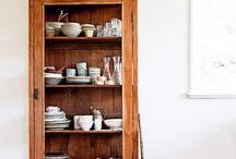Wood iron glass cabinets