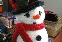 de mi inspiración personal / Snowman en crochet