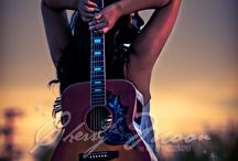 photography of guitars