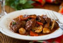 slow Cooker beef and red wine sauce