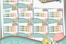 {Let It Snow} Digital Scrapbook Kit