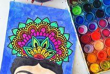 dibujos frida kahlo