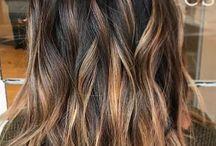 Highlights in dark hair