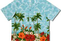 Men's aloha shirts / Traditional Hawaiian Shirts