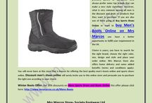 Buy Womens and Men's Boots Online / Mrs Marcos Store is a one stop name in the UK from where you can easily buy the best quality women's ankle boots, women's casual shoes, women's mid calf boots, women's fashion accessories, women's trainers shoes and similar other products at heavy discounted rates. http://www.mrsmarcos.co.uk/sale-womens