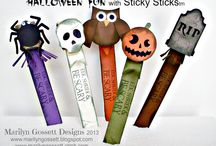 """Fun with """"Sticky Sticks""""  / Monthly projects featuring a unique craft stick with a strong adhesive on one end."""