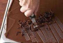 decoração com chocolate